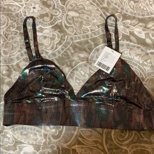 NWT Oil Slick Bralette